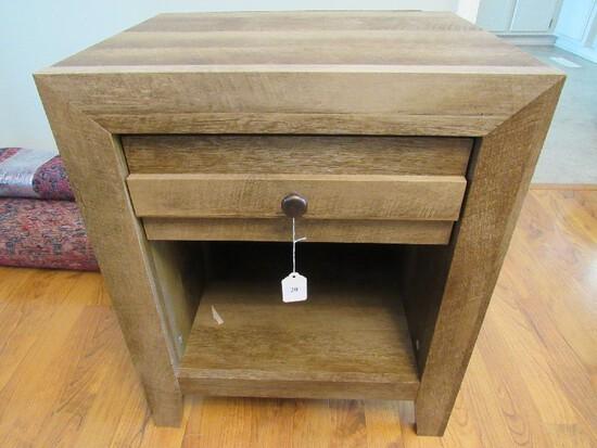 Wooden 1 Drawer Filing Side Table 2-Tier Black/Narrow Legs Metal Pull