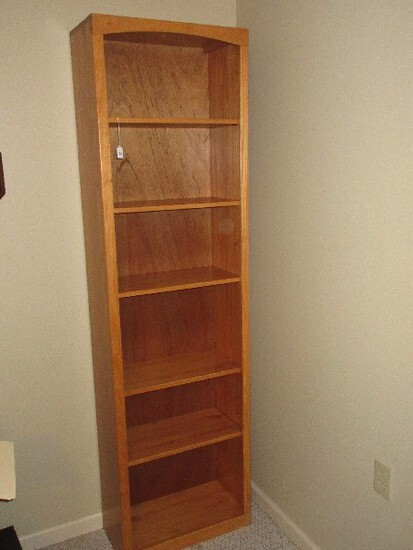 Maple Bookcase w/ Adjustable Shelving & Trim Molding