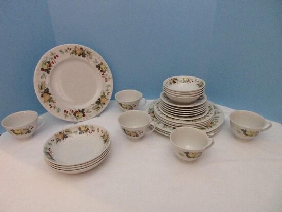 27 Pieces - Royal Doulton English Translucent China Miramont Pattern Dinnerware