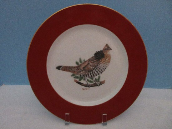 """Woodmere China American Game Birds Collection Ruffled Grouse 10 3/4"""" Plate"""