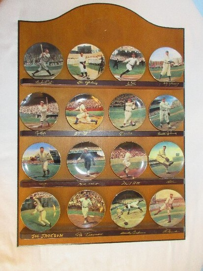 Bradford Exchange Collector Porcelain 16 Miniature Plates Legends of Baseball Complete Set