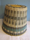 Unique PVC Woven Basket Stool/Accent Table Metal Wire Frame