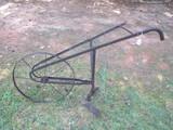Early High Wheel Walking Plow Metal Frame