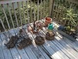 Lot - Misc. Decorative Metal Frame Planters, Hanging Baskets
