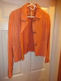 Wilsons Leather Coral Tone Ladies Jacket