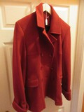 Moda International Red Wool Double Breasted Jacket
