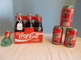 Lot - Coca-Cola Collectibles, 1997 Marlins Champions 120z. Cans, 6 Pack Glass Bottles
