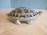 Semi-Porcelain Blue/White Figural Turtle