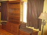 Custom Built Bookcase Adjustable Shelves, Double Base Cabinet Doors w/ Side Window