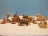 Lot - Hand Crafted Wooden Circus Train w/ Animal Figures, Iron w/ Handle