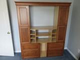 Solid Wood Custom Built Media Cabinet w/ Panel Doors