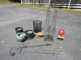 Pair - Metal Garden Planter Ornament Topiaries 37