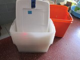 Lot - Misc. Plastic Tote Containers w/ Lids