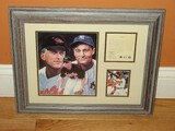 Cal Rip Ken Collectors Limited 7371/12,500 Edition Collage in Grey Wash Frame/Matt