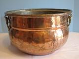 Copper Cauldron w/ Brass Ornament Handles