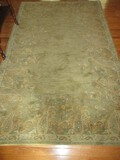 Pottery Barn Hand Tufted Wool Pile Rug Style Ajanta Paisley Pattern Sage/Gold Color