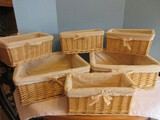 Two 3 Piece Sets Pier 1 Imports Nesting Baskets w/ Cotton Linings