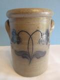 Rockdale Handmade Salt Glaze Pottery Union Stoneware Crock w/ Lid