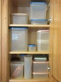 Lot - Misc. Tupperware & Other Plastic Storage Containers, Lazy Susans, Etc.