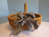 Hand Woven Buttock Basket w/ Bamboo Handle