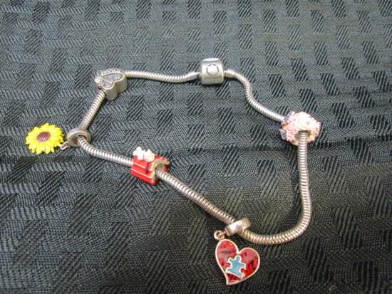 Silver Pandora Style 30gm Bracelet
