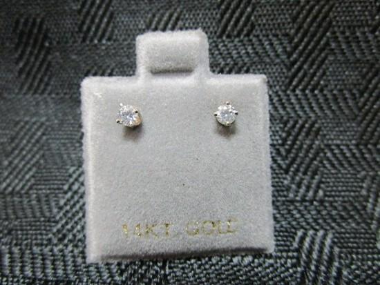 14K Yellow Gold Diamond 0.14ct Earrings
