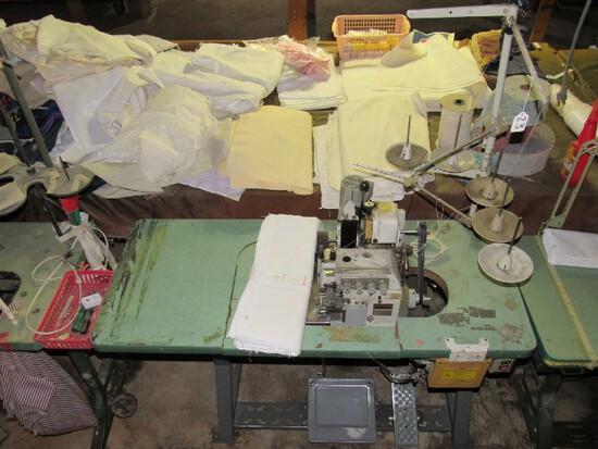 Pegasus Oil Powered Industrial Sewing Machine Wood Top w/ Spool Holders