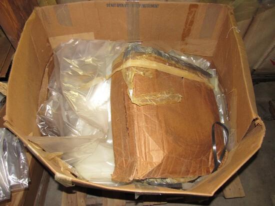 Box Titled w/ Poly Tubing/Plastic Wrapping w/ Wood Slat