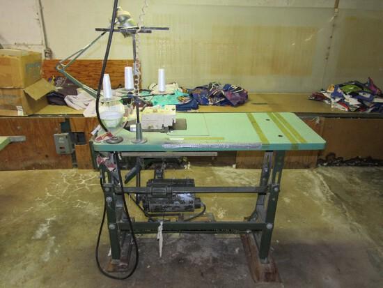 Rockwell-Rimoldi Sewing Machine w/ AMCO 1/2HP 3500RPM Motor Drive