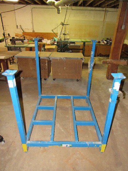 Tier-Rack Load-Nester Blue Metal Stand