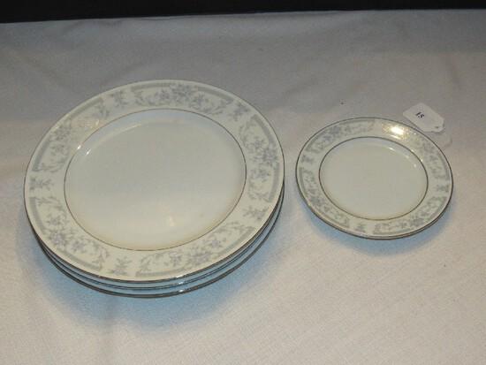 Sheffield Blue Whisper Porcelain Fine China Ornate Blue Floral Band Ceramic Lot