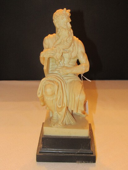 Mose Resin Statuette on Weighted Black Marble Base