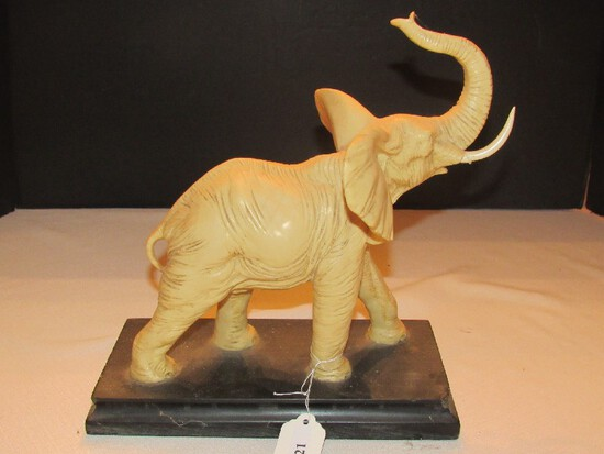 White Resin Statuette on Weighted Black Marble Base