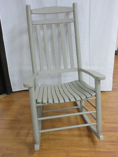 Painted Wooden Slat Back/Seat Porch/Patio Rocker