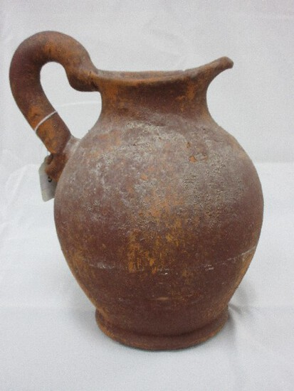 "Terra Cotta 12"" Pitcher Weathered Patina"