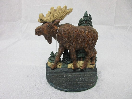 "Midwest Cannon Falls Cast Iron Figural Moose 7"" Doorstop/Bookend"