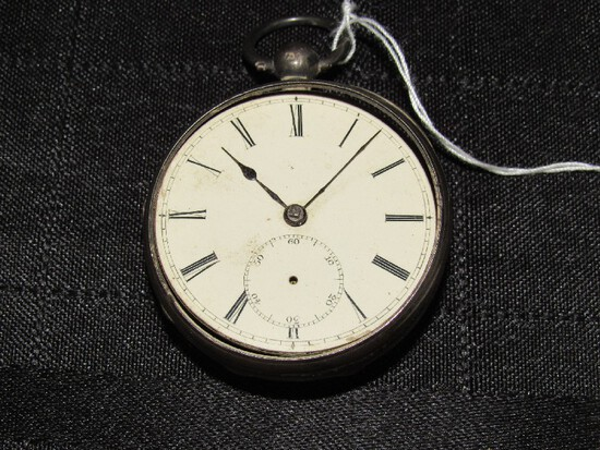 Antique Sterling Silver Pocket Watch Made by V. Mastagilo Newcastle Upon Tyne