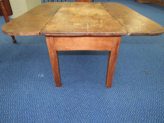 Primitive Wooden Drop Leaf Center Table