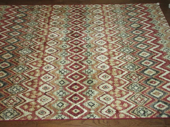 Dynamic Rugs Heritage Collection 100% Viscose Chenille Synthetics Machine Loomed