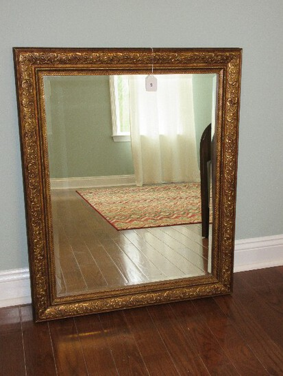 Stunning French Inspired Wall Décor Framed Beveled Mirror Ornately Embellished Floral