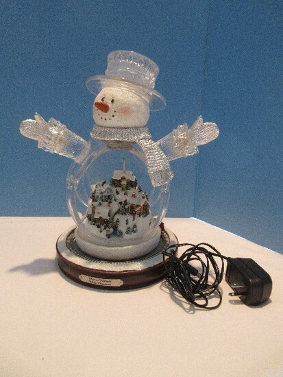 "Thomas Kinkade ""White Christmas"" Masterpiece Edition Crystal Snowman"