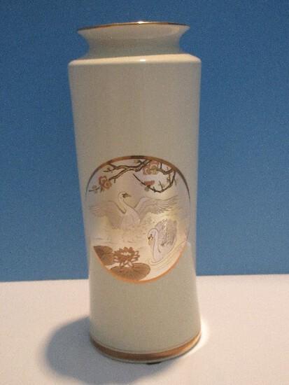 "Dynasty Gallery Exclusive Designs Original Chokin Collection Fine Porcelain 12 1/2"" Vase"