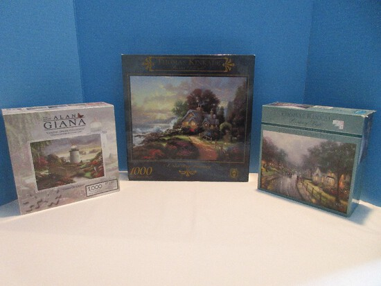 3 Jigsaw Puzzles The Art of Alan Giana Coastal Dreams Collection