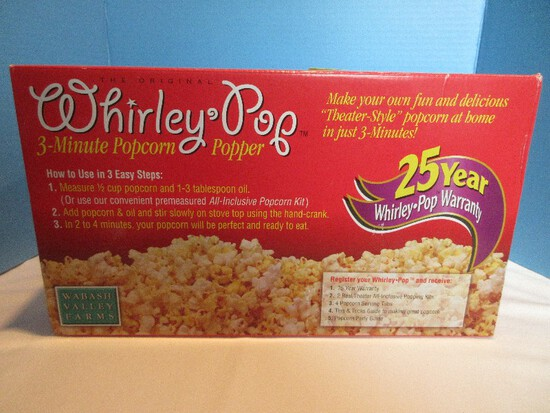 Wabash Valley Farms Original Whirley Pop 3 Minute Popcorn Popper