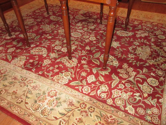 Persian Style Timeless Floral Foliate Design 100% Wool Pile Area Rug Maroon/Taupe Colors
