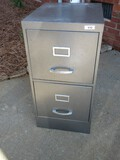 Gray Metal 2 Drawer File Cabinet