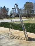 Werner Aluminum A-Frame 10ft Ladder Max Reach 14ft 300lbs Capacity
