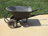 Super Capacity Metal Frame Wheelbarrow w/ Dual Air Tires