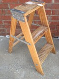 Wooden A-Frame 2 Step Ladder