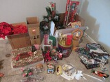 Christmas Collection Throws, Tree Skirt, Nut Cracker, Poinsettia, Wrapping Paper, Tins, Etc.